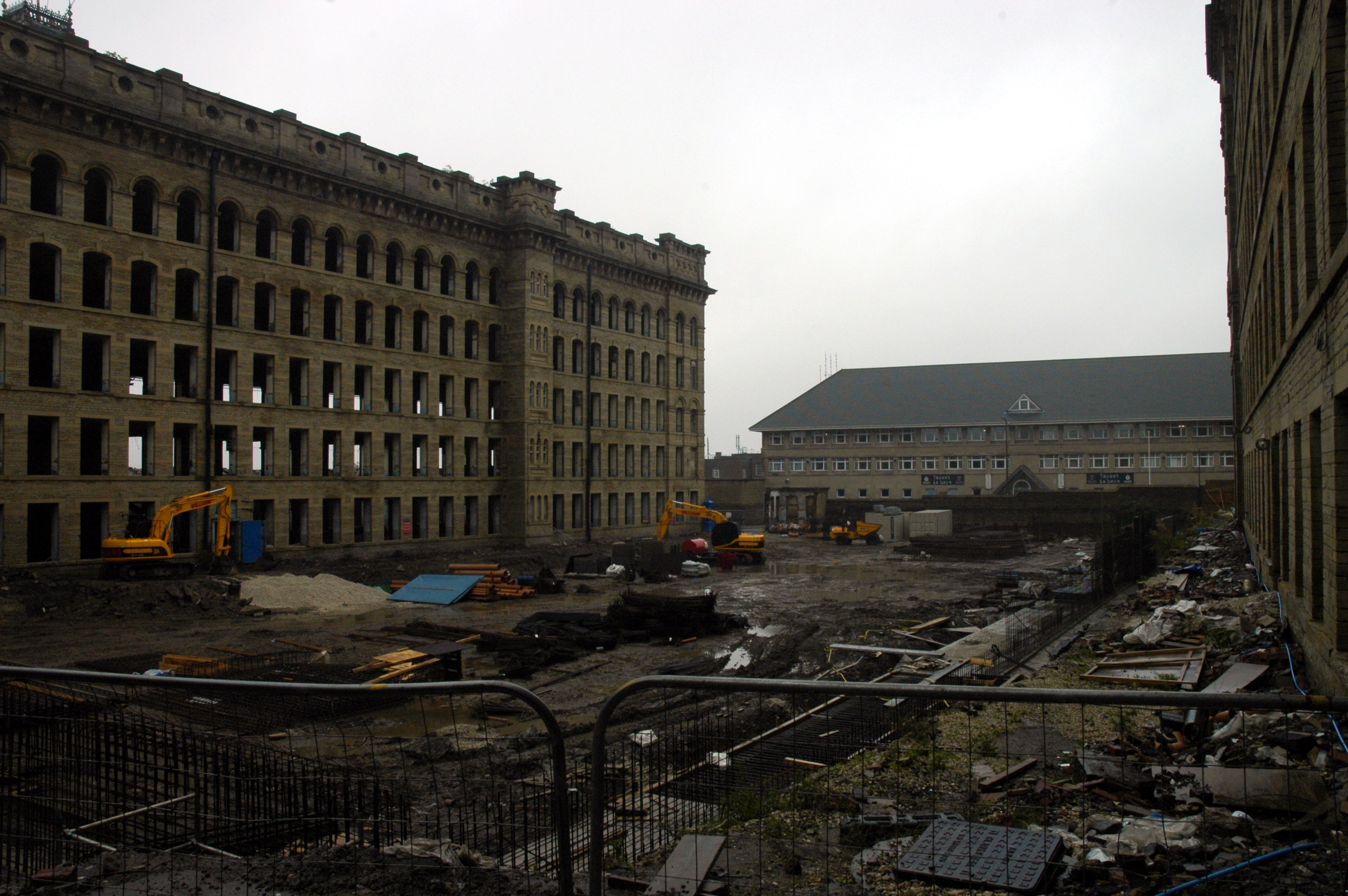 photo of Manningham Mills building site