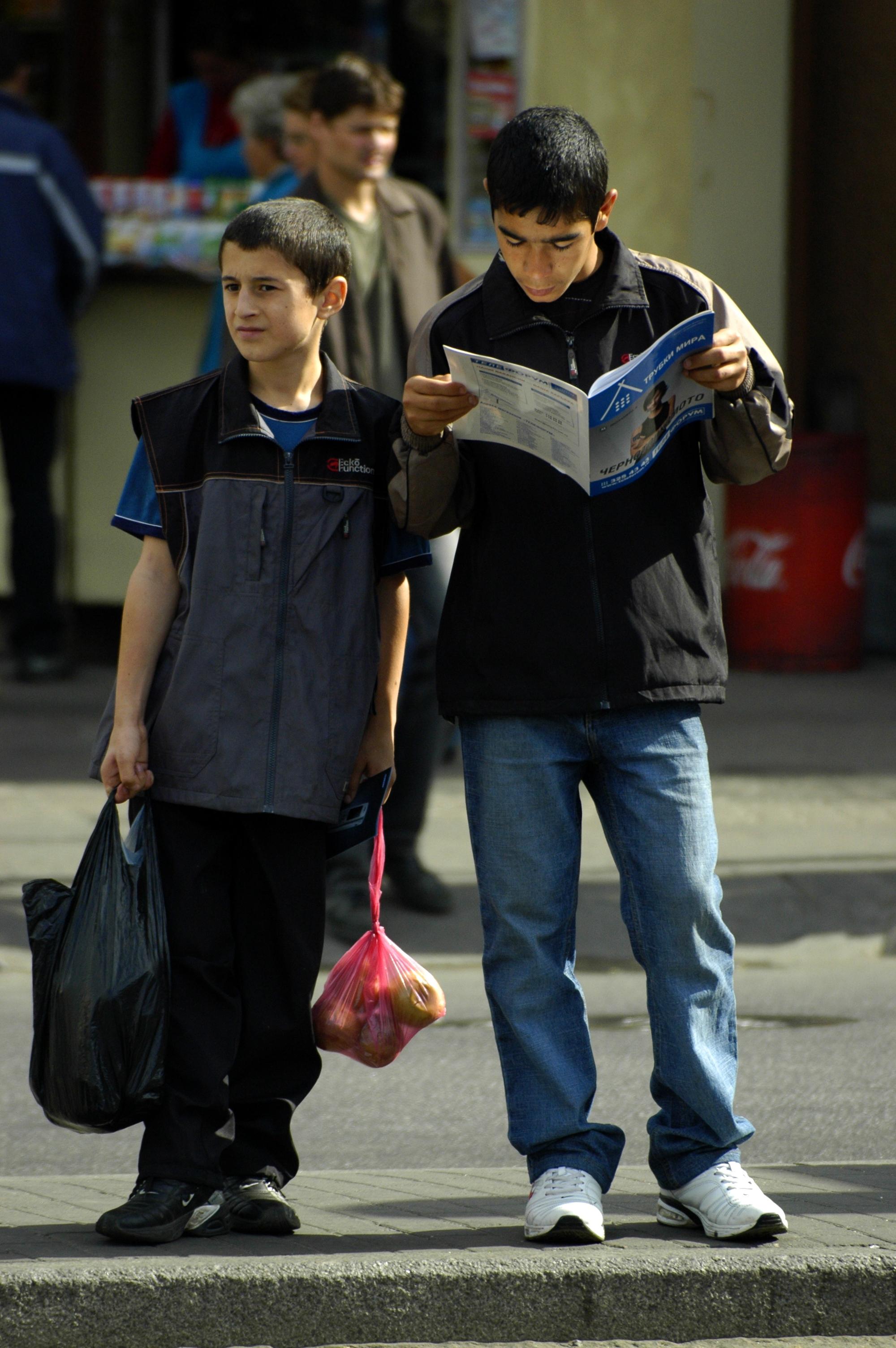 photo of Russian kids in St. Petersburg
