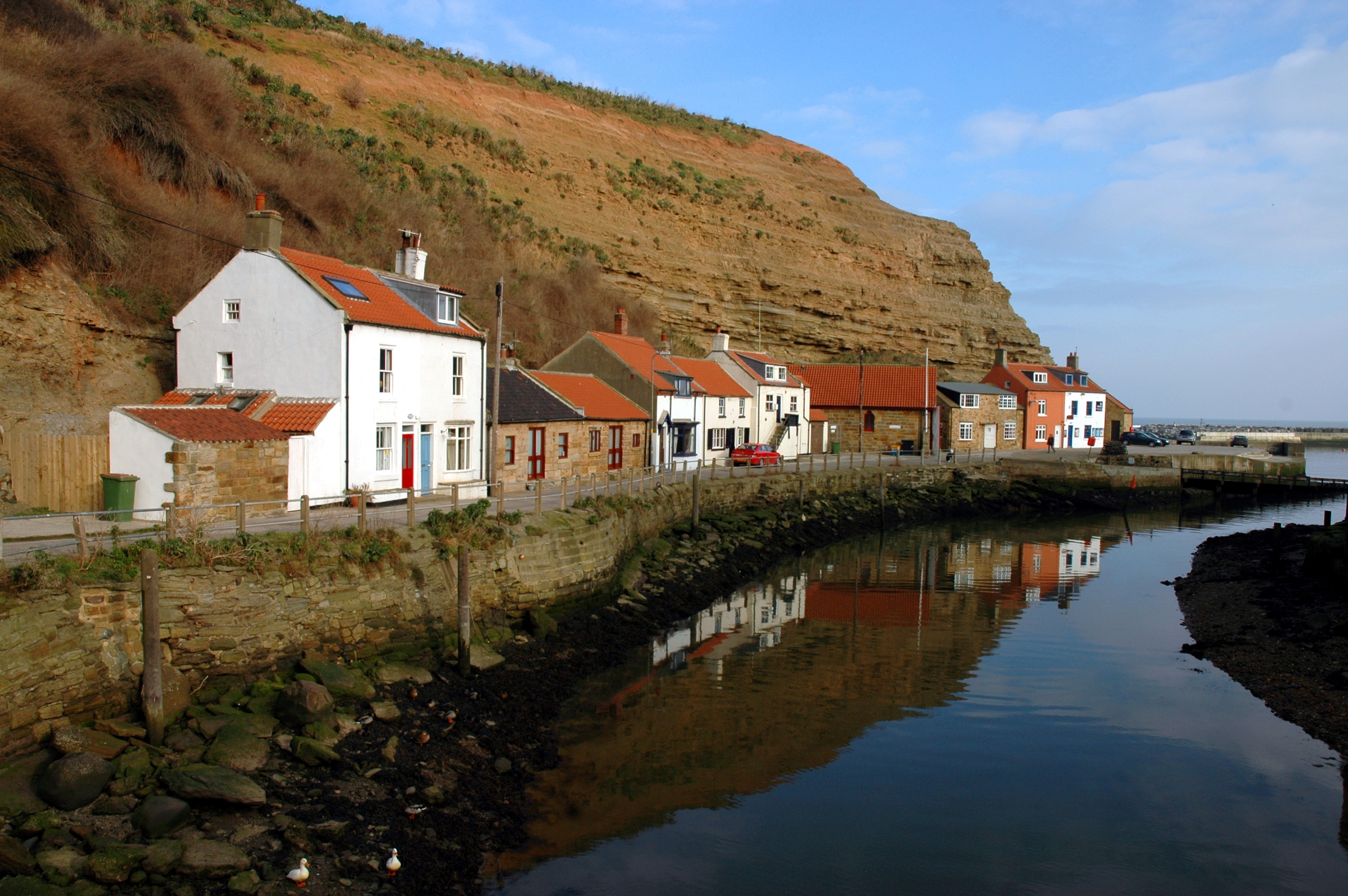 photo of cottages in Staithes, North Yorkshire