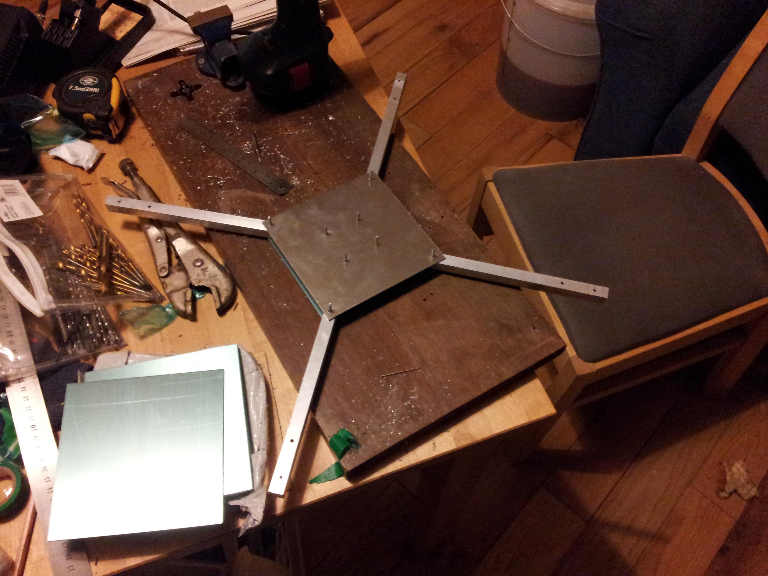 Quadcopter build, aluminium frame – John Leach